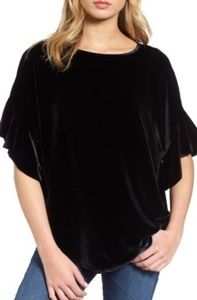 AG Adriano Goldschmied Clara Velvet Loose Top